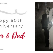 Happy 50th Anniversary, Mom and Dad